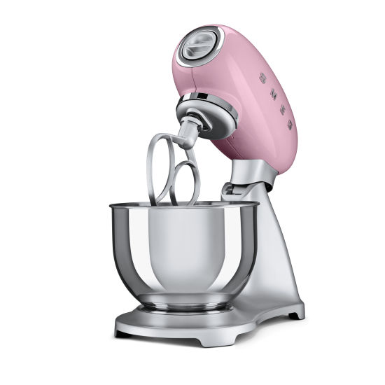 Small Exhibition Stand Mixer : Smeg stand mixer pink squires kitchen shop