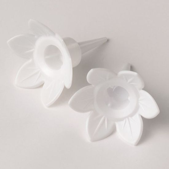 Single Plastic Candle Holders - White