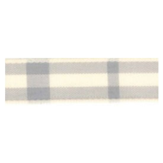 Rustic Grey Tartan Ribbon 25mm