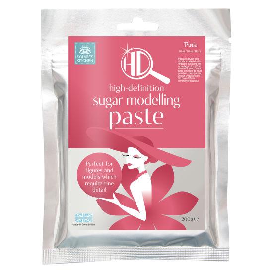 Squires Kitchen HD Sugar Modelling Paste Pink 200g