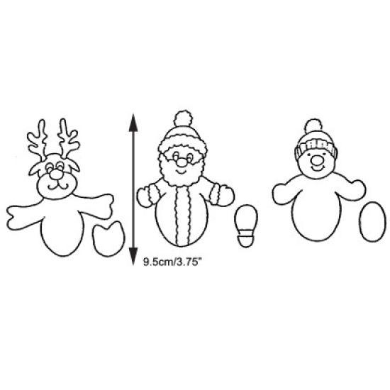 Patchwork Cutter & Embosser Christmas Novelty Set