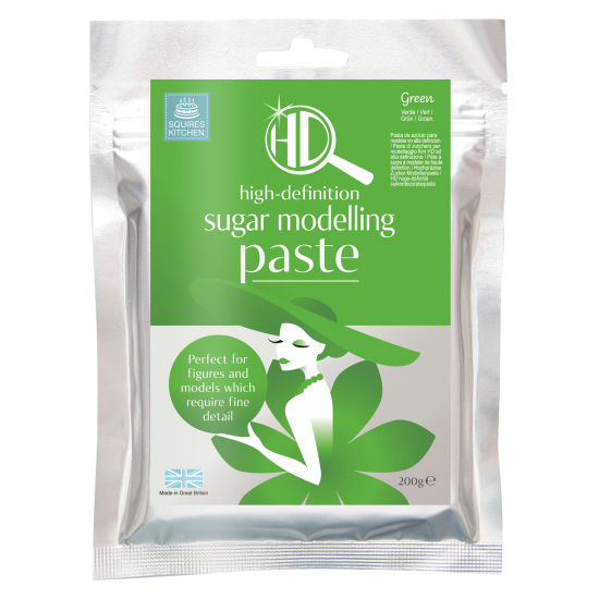 Squires Kitchen HD Sugar Modelling Paste Green 200g