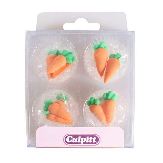Carrots Sugar Decorations set of 12