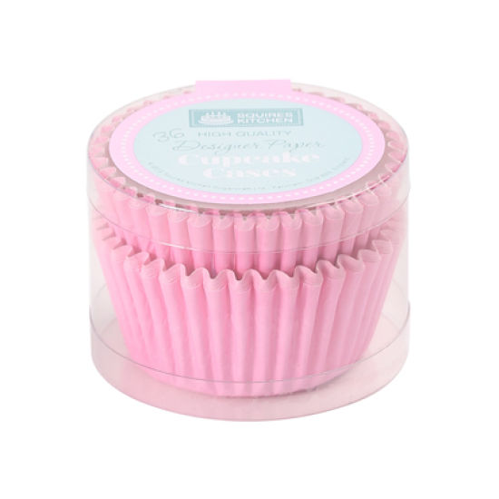 SK Cupcake Cases Colour Block Pastel Pink Pack of 36