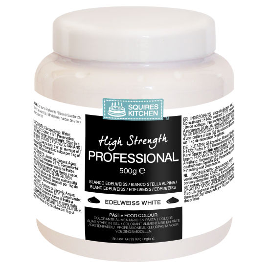 SK Professional Food Colour Paste Edelweiss White 500g