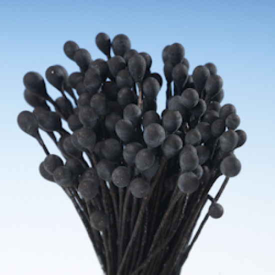 Black Matt Round Head Stamens - Medium