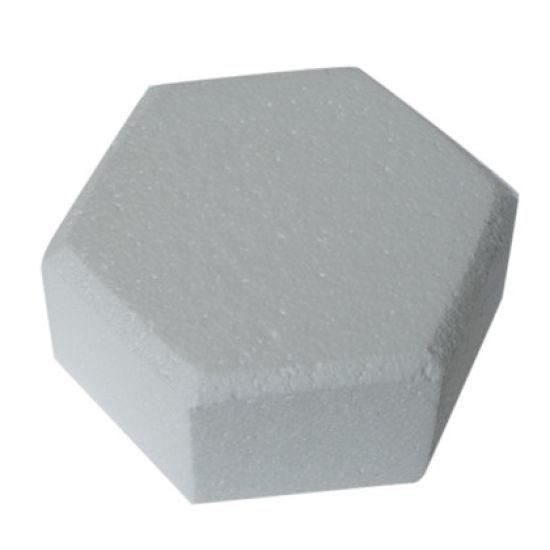 Hexagonal Chamfered Edged Cake Dummy - 6 Inch