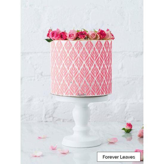 LissieLou Forever Leaves Cake Stencil Full Size Design