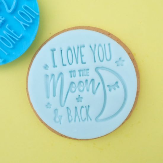 Sweet Stamp To the Moon and Back Cupcake Embosser