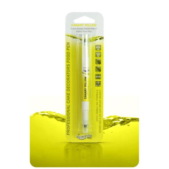 Rainbow Dust Double-Sided Edible Food Pen Canary Yellow