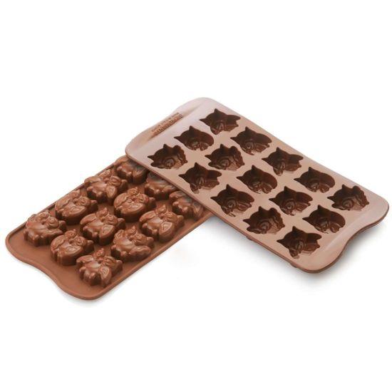 Silikomart Chocolate Owls Silicone Mould