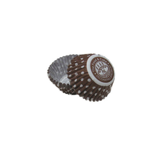 SK Mini Cupcake Cases Dotty Chocolate Pack of 50