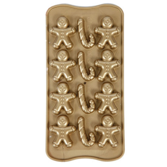 Gingerbread and Candycane Chocolate Mould
