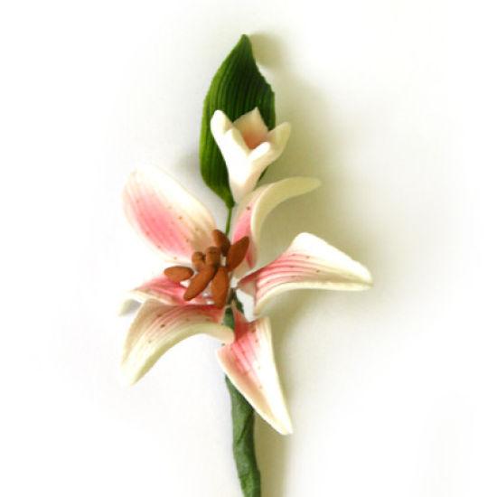 Pink Mini Tiger Lily Sugar Flower Spray