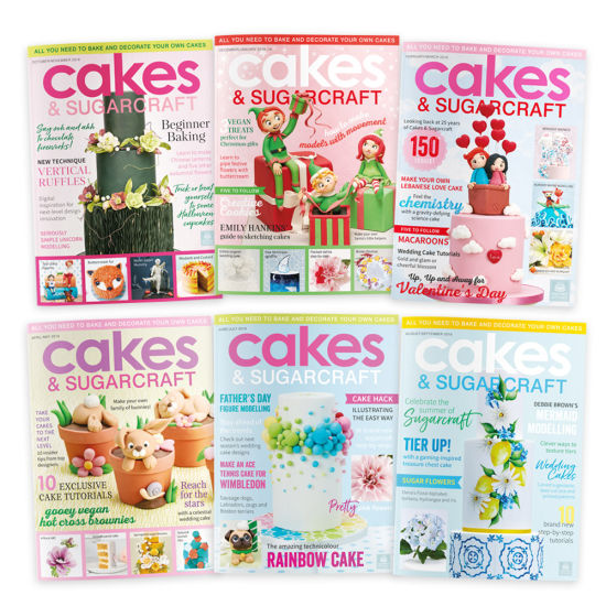Cakes & Sugarcraft Magazine Subscription 6 Issues Starting with Current Issue (Oct/Nov 2019)