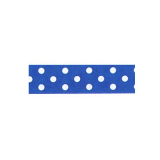 Dotty Satin Ribbon Royal Blue 25mm