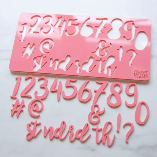 Sweet Stamp Stylish Number Embossing Set