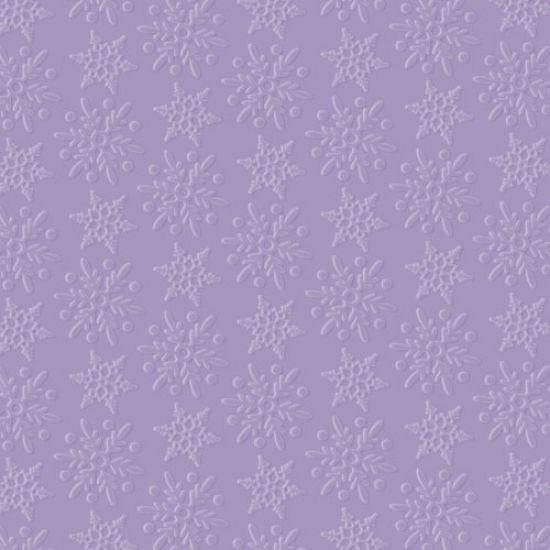 Purple Cupcakes Snowflakes Embossing Folder