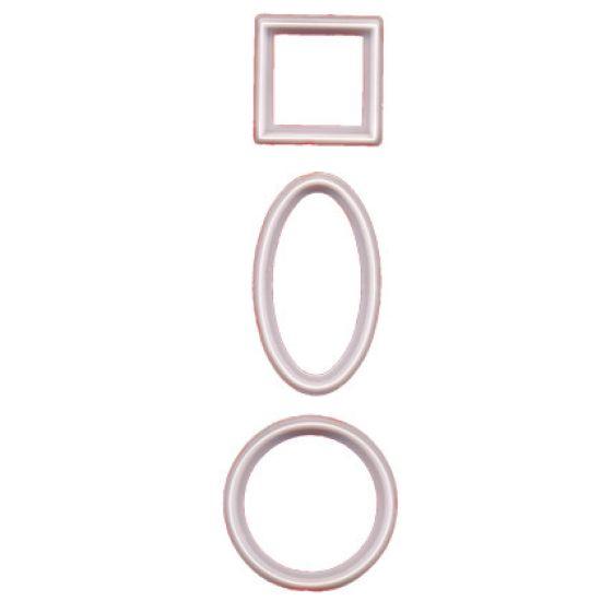 FMM Cutter Geometric 4 Circles 3 Squares 3 Ovals