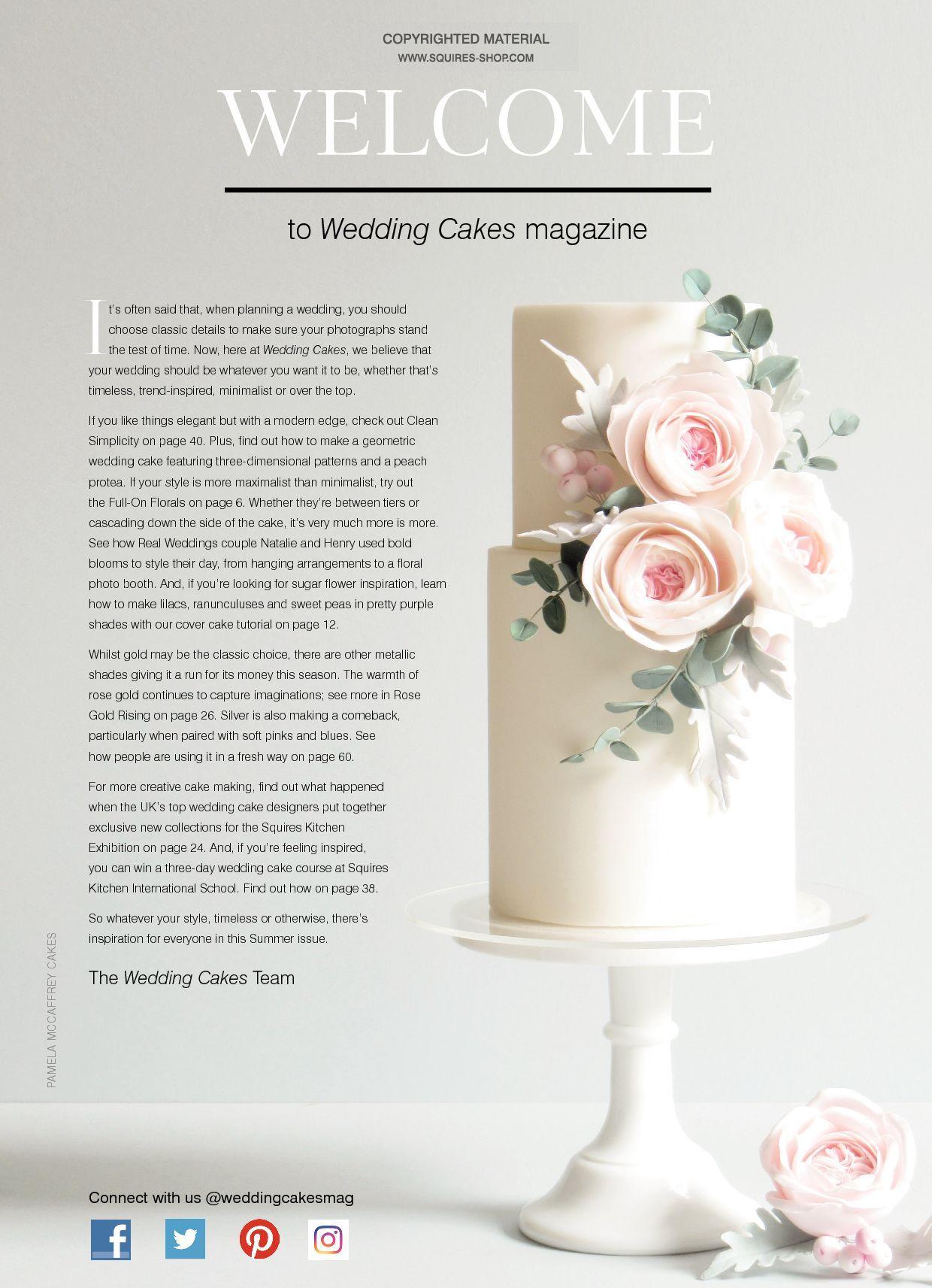 Wedding Cakes Magazine Summer 2018 | Squires Kitchen Shop