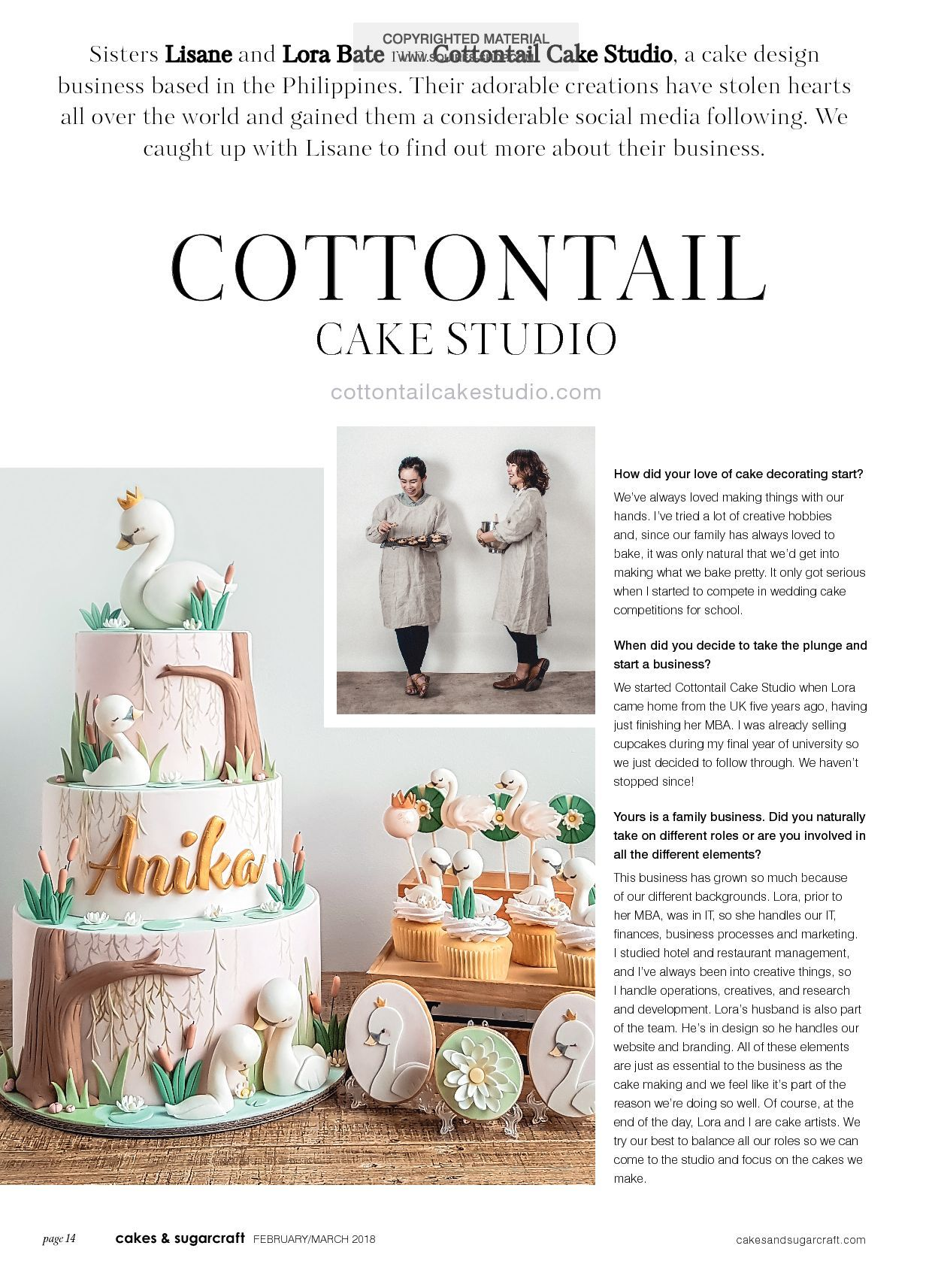 Cakes & Sugarcraft Magazine February/March 2018 | Squires Kitchen Shop