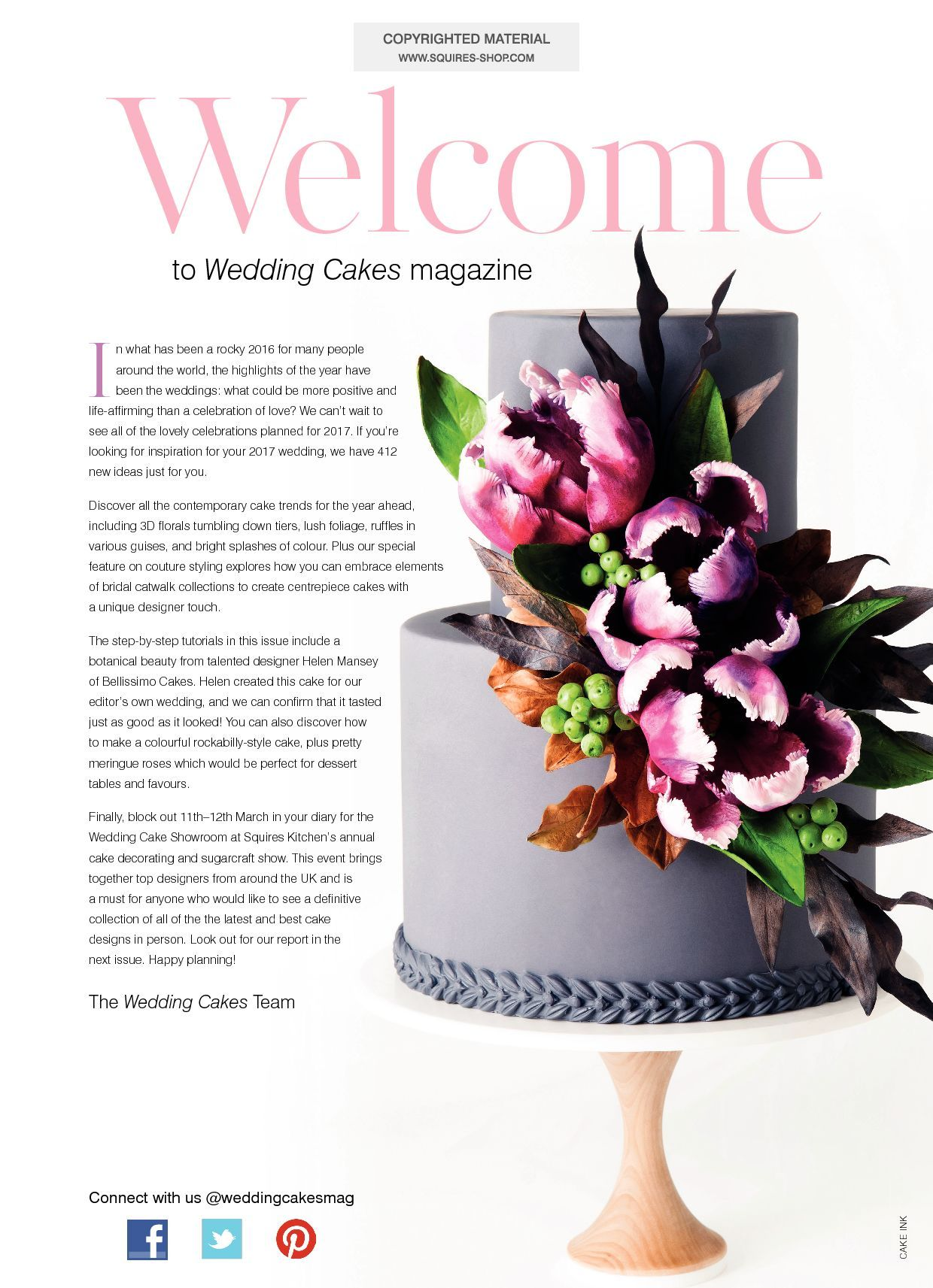 Wedding Cakes Magazine Spring 2017 | Squires Kitchen Shop